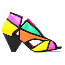 Ovelia Peep Toe Heel in Bright Multi