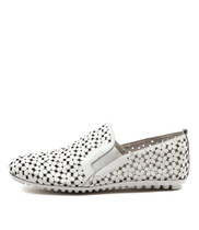 BOBBY Flat Slip-on in White Leather