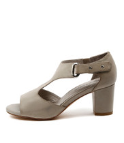 CECILY Heeled Sandals in Grey Leather