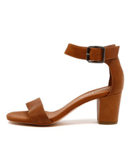 CASSIER Heeled Sandals in Tan Leather