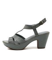 WISDOM Heeled Sandals in Denim Leather
