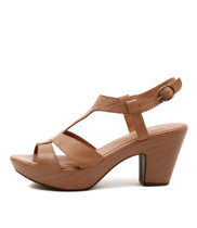 WISDOM Heeled Sandals in Dark Blush Leather