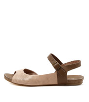 JAGGIE Flat Sandals in Nude/ Taupe Leather