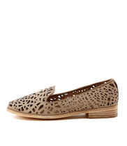 AMICE Flat Loafers in Latte Leather