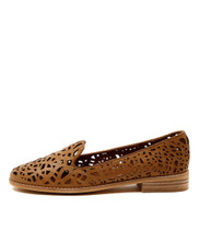 AMICE Flat Loafers in Tan Leather