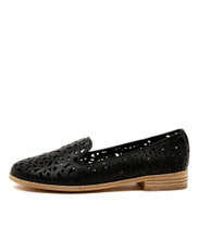 AMICE Flat Loafers in Black Leather