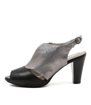 WRING High Heels in Black/ Pewter Leather