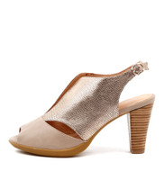 WRING High Heels in Nude/ Rose Gold Leather
