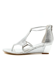 RADO Wedge Sandals in Silver Leather