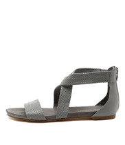 JELLIN Flat Sandals in Misty Leather