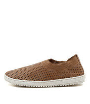 TAZEMORE Slip-on Flats in Latte Leather