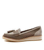 CHEERY Flat Loafer in Smoke Printed Leather