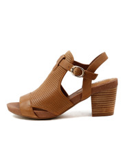 ZUNTON Heeled Sandals in Tan Leather