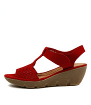 TORRID Platform Wedges in Red Nubuck