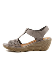 TORRID Platform Wedges in Light Grey Nubuck
