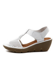 TORRID Platform Wedges in White Leather