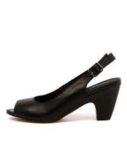 KLOE Heeled Sandals in Black Leather