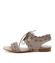 PRINCI Lace-up Sandals in Misty Leather