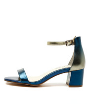 PISTOL Heeled Sandals in Blue Mix Leather