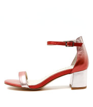 PISTOL Heeled Sandals in Coral Mix Leather