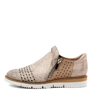 WATSA Flats in Nude Multi Leather