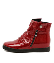 GALLO Sneakers in Red Patent Leather