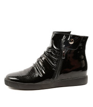 GALLO Sneakers in Black Patent Leather