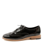 LAGOON Lace-up Brogues in Black Patent Leather