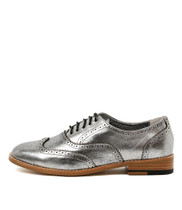 LAGOON Lace-up Brogues in Silver Leather
