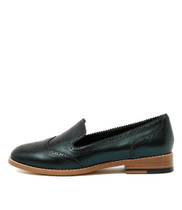 LANNY Flat Loafers in Peacock Metallic Leather