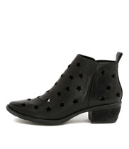 SACRED Ankle Boots in Black Leather