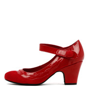 SPARZ High Heels in Red Patent Leather