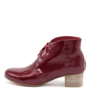 JADAN Ankle Boots in Red Patent Leather