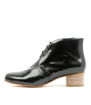 JADAN Ankle Boots in Pewter Patent Leather