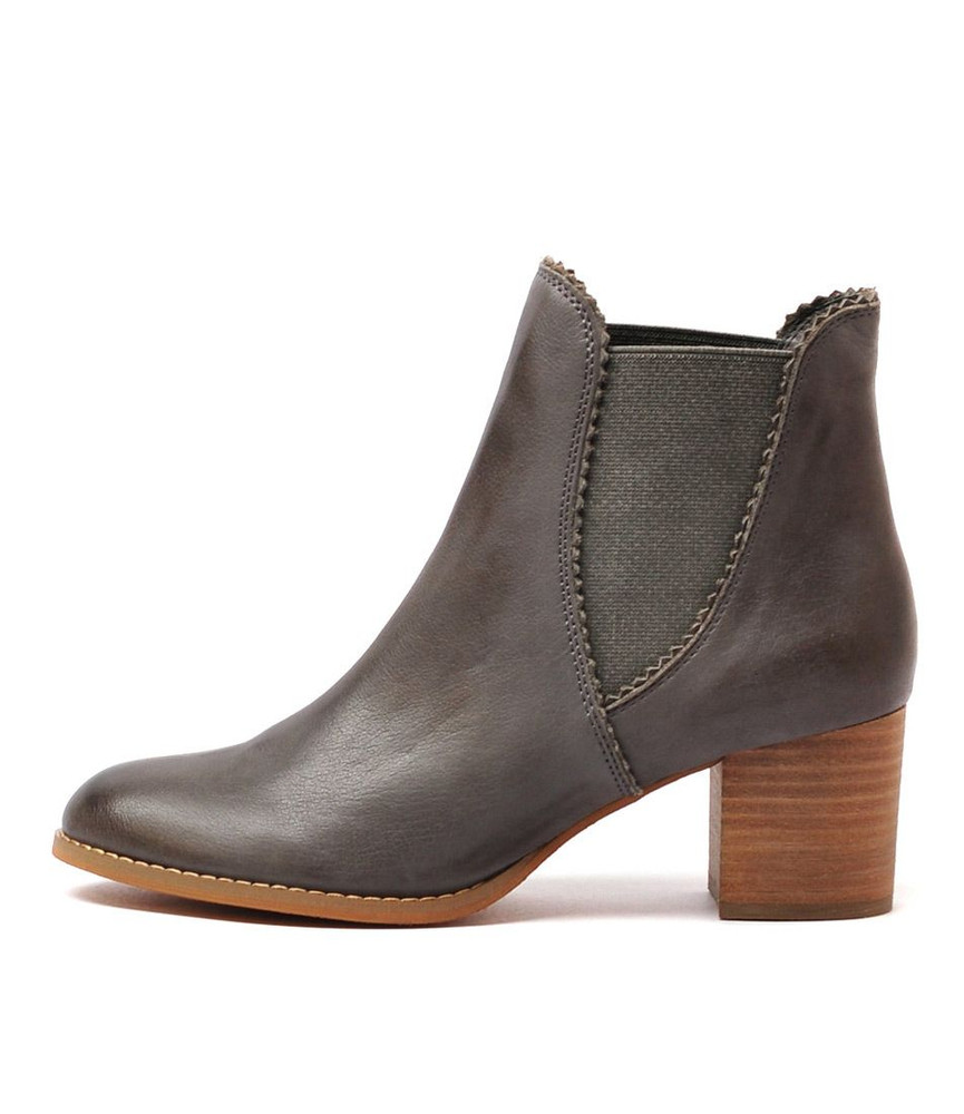 sadore ankle boots in grey leather django and juliette