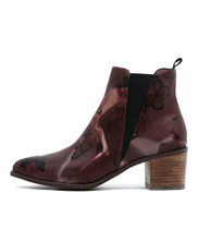 HERMO Ankle Boots in Butterfly Print Leather