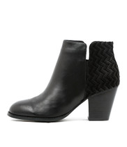 RELEASING Ankle Boots in Black Cut Leather