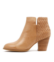 RELEASING Ankle Boots in Tan Cut Leather