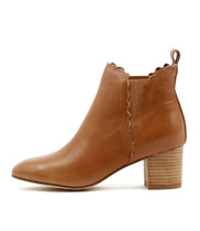 REAVE Ankle Boots in Tan Leather