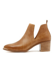 HENTON Ankle Boots in Tan Leather