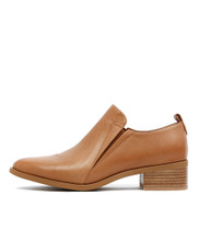 PACO Heeled Shoes in Dark Tan Leather