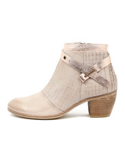 MERSEN Ankle Boots in Nude/ Rose Gold Leather