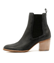 BEEMO Ankle Boots in Black Nubuck