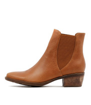 SUMAC Ankle Boots in Dark Tan Leather