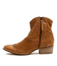 LAZRO Ankle Boots in Dark Tan Leather