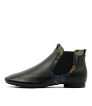 QINTAR Ankle Boots in Black/ Multi Leather