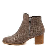 SENATE Ankle Boots in Charcoal Leather