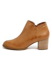 SHARON Ankle Boots in Dark Tan Leather