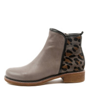 ONLY Ankle Boots in Grey/ Multi Leather
