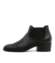 HISKA Ankle Boots in Black Leather